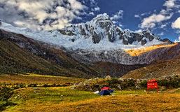 Taullipampa camp 4280 m Stock Photos