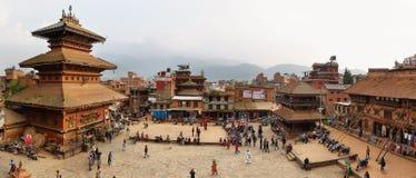 taumadhi正方形的, Bhaktapur,尼泊尔Nyatapola塔 免版税库存图片