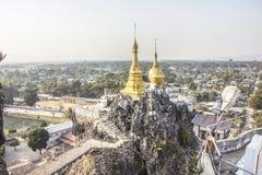 Taung Kwe Paya, detalj Royaltyfri Bild