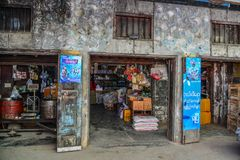 Grocery store in Taunggyi, Myanmar royalty free stock photos