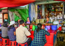 Local restaurant in Taunggyi, Myanmar stock photos