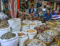 Traditional Asian fish market royalty free stock photography