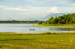 Taungthaman sjö och u-Beinbro Royaltyfri Foto