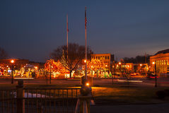 Taunton Green at Christmas Stock Image