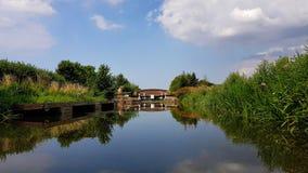 Taunton och Bridgwater kanal Somerset royaltyfri bild