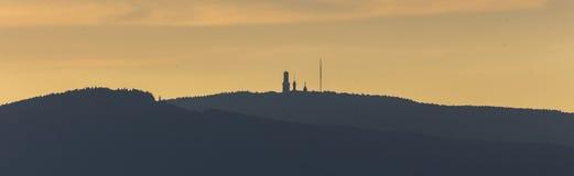 Taunus hesse Duitsland van de Grosser feldberg berg Stock Afbeeldingen