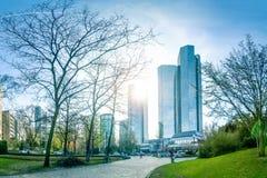 Taunusanlage Frankfurt - f.m. - strömförsörjning Royaltyfri Bild