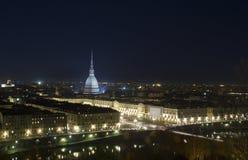 Taupe Antonelliana par nuit Image libre de droits