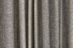 Taupe curtain detail Royalty Free Stock Image