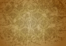 Taupe Grunge wallpaper pattern Royalty Free Stock Photo