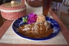 Taupe, plat mexicain de Puebla images stock