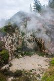 Taupo geothermal park. Which is a popular place to watch Volcanic activity Royalty Free Stock Photo