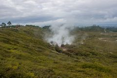 Taupo geothermal park. Which is a popular place to watch Volcanic activity Royalty Free Stock Image