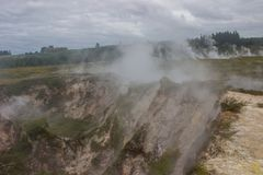 Taupo geothermal park. Which is a popular place to watch Volcanic activity Stock Photo