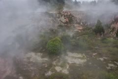Taupo geothermal park. Which is a popular place to watch Volcanic activity Stock Images