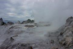 Taupo geothermisch park royalty-vrije stock afbeelding
