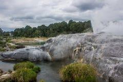 Taupo geothermisch park stock afbeelding