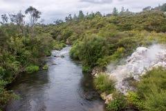 Taupo geothermisch park royalty-vrije stock fotografie