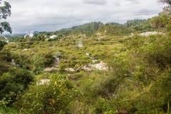 Taupo geothermisch park stock afbeeldingen