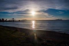 Taupo lake. The largest volcanic lake on New Zealand`s north island Stock Photography