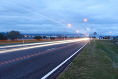 Taupo Main Road. Taupo main road heading down in to taupo main town area Royalty Free Stock Photography