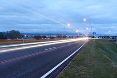 Taupo strömförsörjningsväg. Royaltyfri Fotografi
