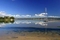 Tauranga-Hafen, NZ Stockfoto