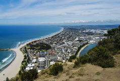 Tauranga New Zealand. View from Mt Maunganui overlooking Tauranga in summer royalty free stock photos