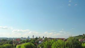 Tauras hill lokout, Vilnius, Lithuania stock footage