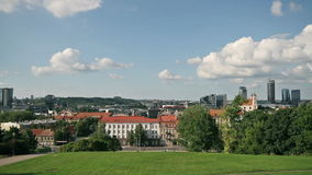 Tauras hill lokout, Vilnius, Lithuania stock video footage