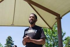Taurean Garrett addresses racial tensions at gathering