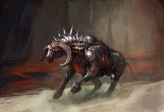 Taureau de chevalier d'armure Images libres de droits