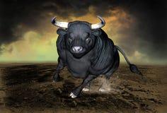 Taureau de remplissage, symbole de Stret de mur illustration libre de droits