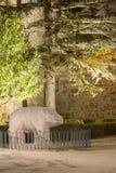 Taureau en pierre Avila Photographie stock libre de droits