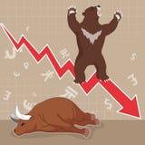 Taureau et ours de concept de marché boursier Photo libre de droits