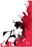 taureau noir Photo stock