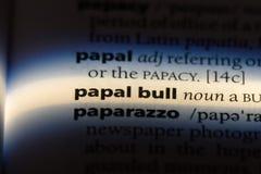 taureau papal photo libre de droits