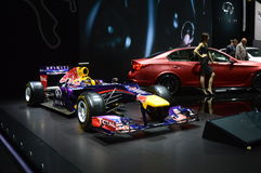 Taureau rouge Vettel, salon international août d'automobile de Rikyardo Moscou Photographie stock