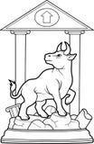 Taureau se tient sur un piédestal Images libres de droits