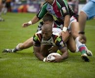Taureaux de la ligue v Bradford de rugby de harlequins Images libres de droits