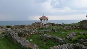 Tauric Chersonesos in Crimea. Black sea coast stock image