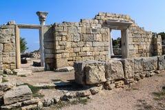 Tauric Chersonesos, nationaal domein aan het Westen van Sebastopol royalty-vrije stock foto's