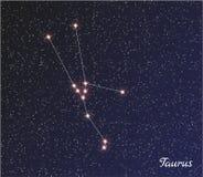 Tauro de la constelación Fotos de archivo