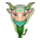 Taurus - διακοσμητικό zodiac σημάδι Στοκ Εικόνες