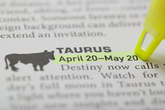Taurus. On April 20 to May 20 stock images