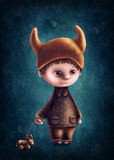 Taurus astrological sign boy. Illustration with taurus astrological sign boy Stock Illustration