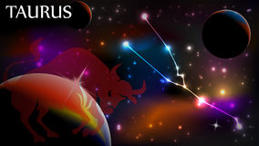 Taurus Astrological Sign and copy space Stock Photography