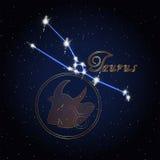 Taurus Astrology constellation of the zodiac Royalty Free Stock Photos