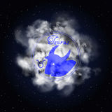 Taurus Astrology constellation of the zodiac smoke Stock Photography