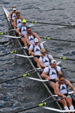 Taurus Boat Club races in the Head of Charles Regatta Men's Championship Eights Royalty Free Stock Photos